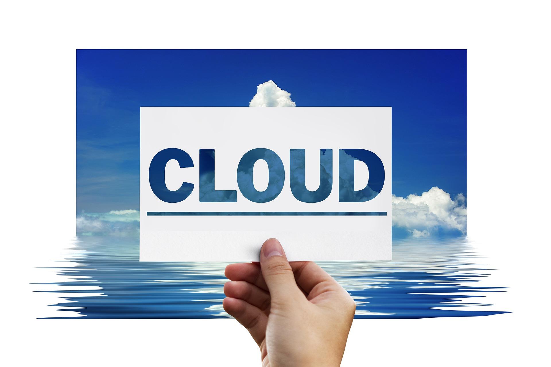 scritta cloud