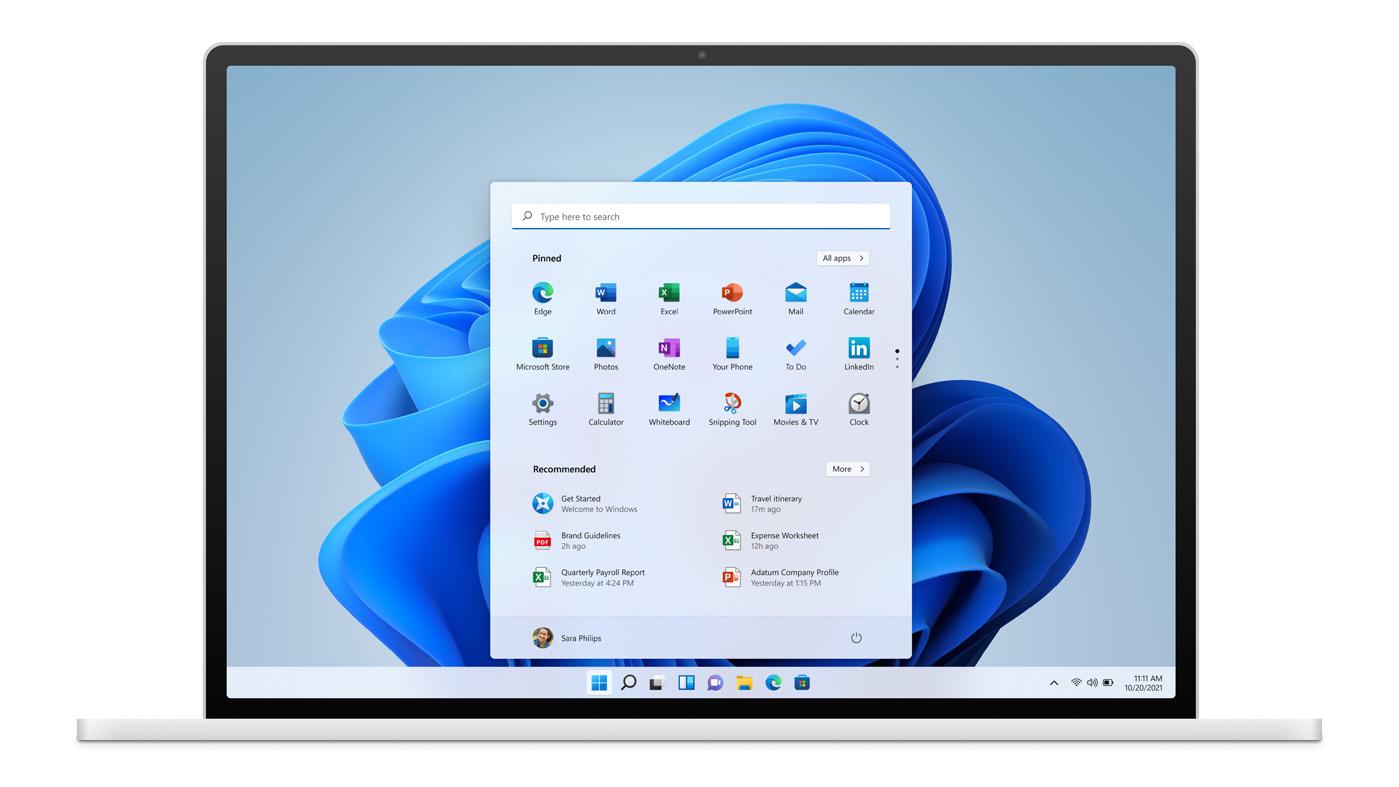 Schermata di Windows 11