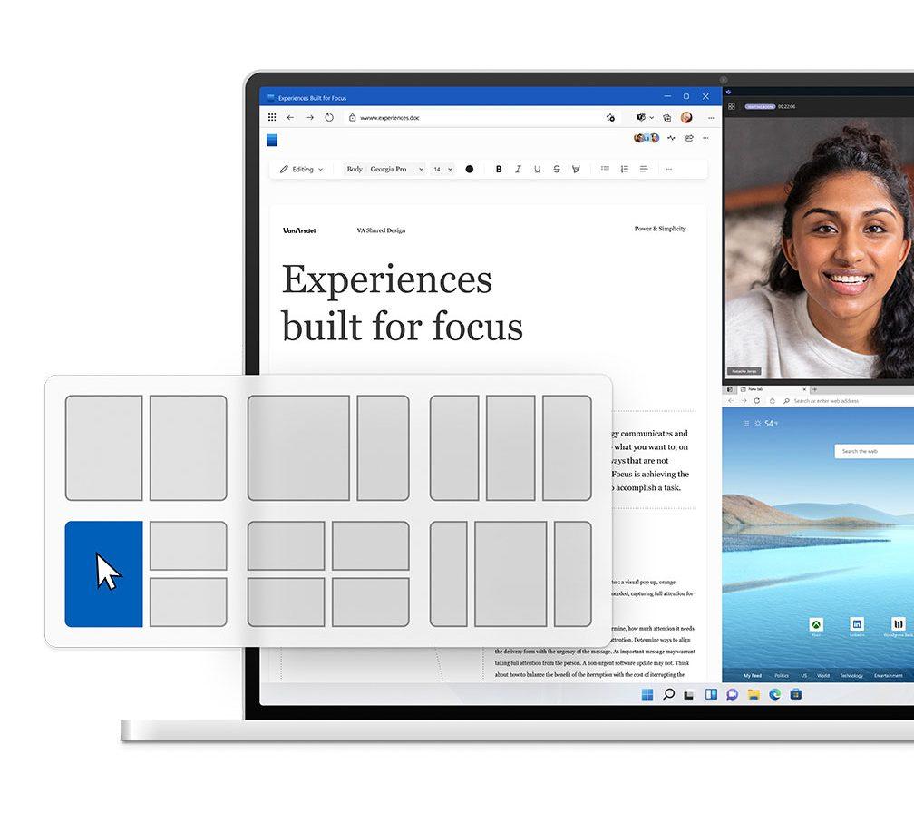 Il nuovo sistemi di pannelli di Windows 11